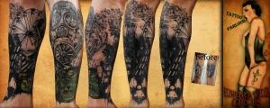 nuclear war gasmask  tattoo