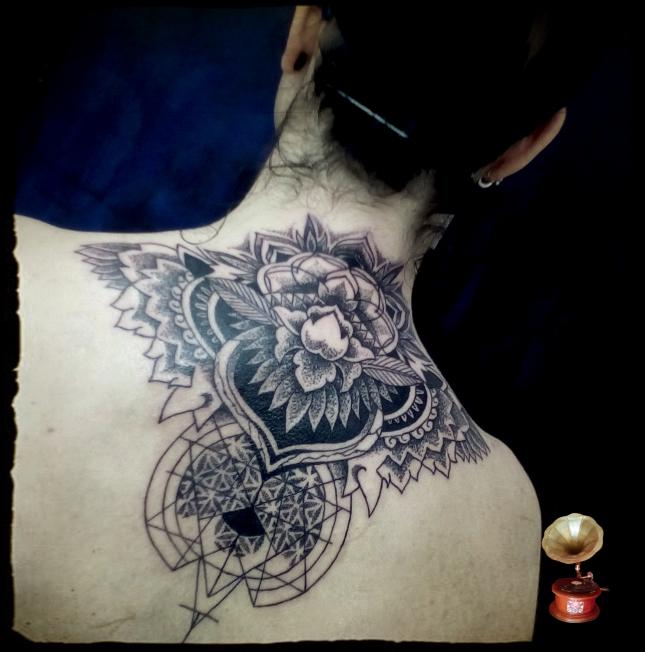 mandala dotwork tattoo